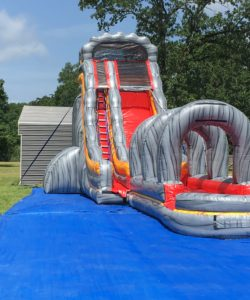 22ft slide with 30ft slip n slide